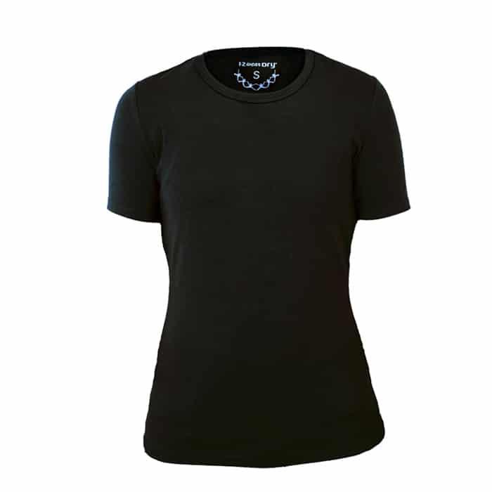 1-2Dry Vrouw Zwart Ronde Hals