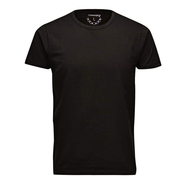 1-2Dry Shirts Man Zwart Ronde Hals