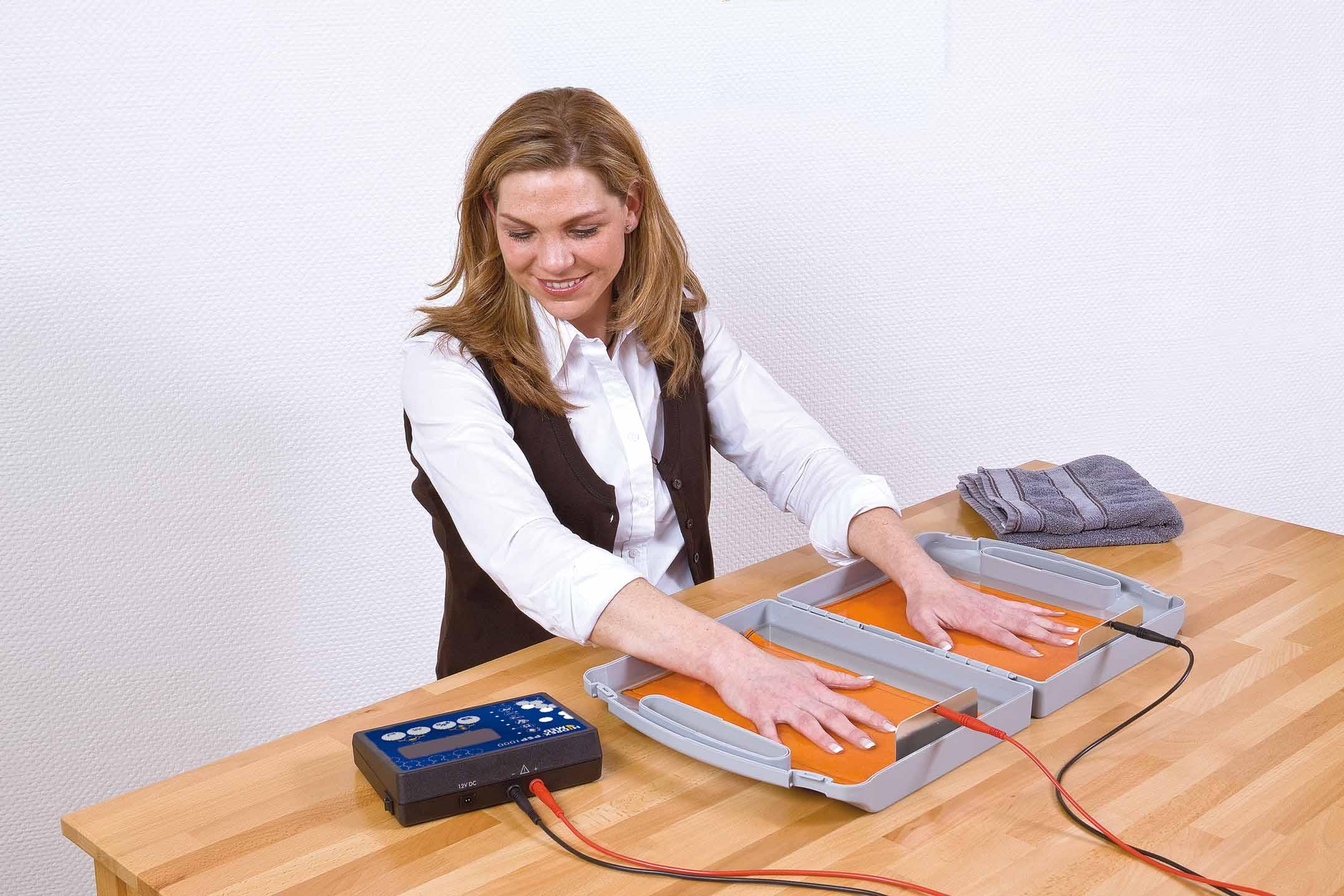 Hoe werkt een iontoforese behandeling?