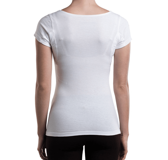 Fibershirt anti-zweet shirt dames wit 2