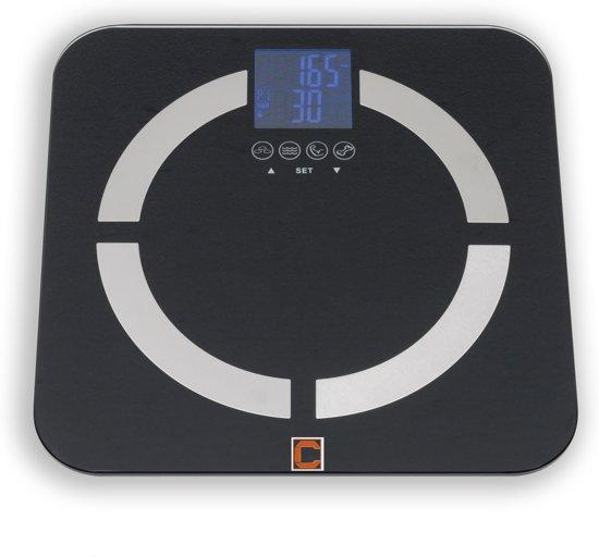 Cresta Care CBS350 zwart - Personenweegschaal met lichaam & BMI analyze