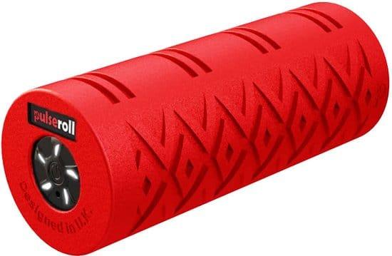 Pulseroll Vibrerende Foam Roller Pro met 5 Tril standen - Rode Massage Roller 38 cm incl. Draagtas en Afstandsbediening