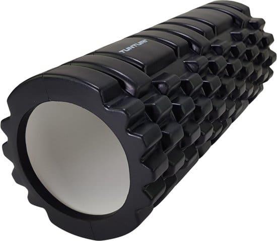 Tunturi Yoga Grid Foam Roller - Foam roller the grid - Foamroller - Fitness Roller - 33cm - Zwart