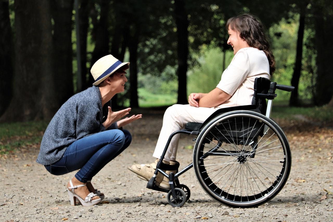Genieten met een vouw rolstoel
