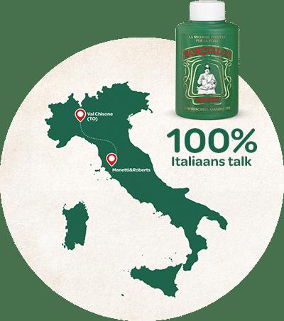 Borotalco kaart over microtalk Italie
